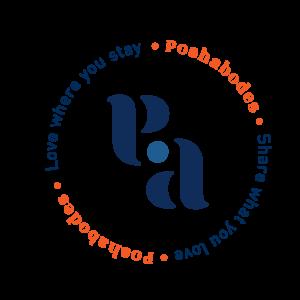 Poshabodes circle logo.