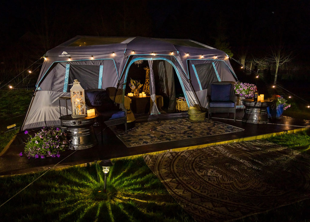 glamp in your backyard